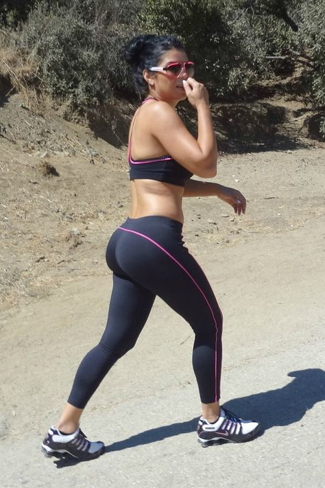Girl in Pink and Black Yoga Pants