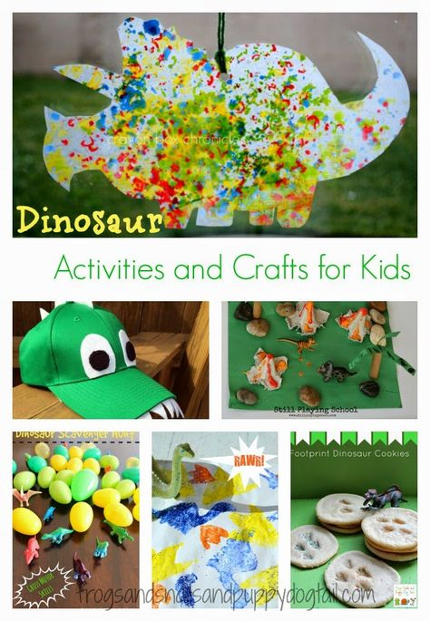 Dinosaur Activities and Crafts for Kids via Frogs, Snails and Puppy Dog Tails