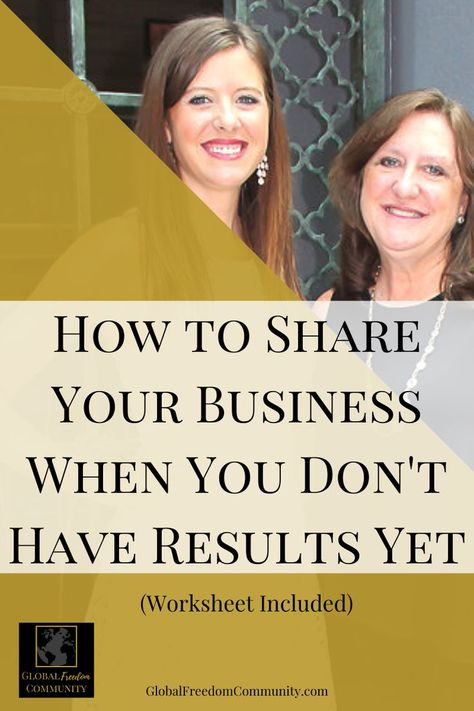 How to Share Your Network Marketing Business When You Don't Have Results Yet
