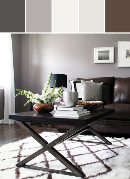 Living Room Colors With Brown Couch Grey Walls White Trim 47 Ideas Living Room Decor Brown Couch Brown Living Room Decor Living Room Decor Grey Walls
