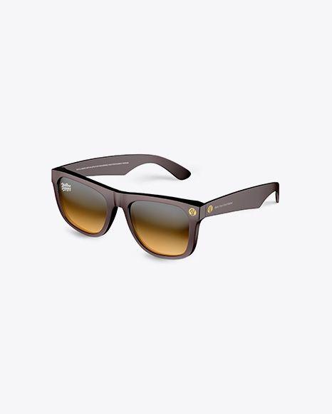 Sunglasses Mockup Half Side View In Apparel Mockups On Yellow Images Object Mockups Free Sunglasses Mockup Downloads Wayfarer Glasses