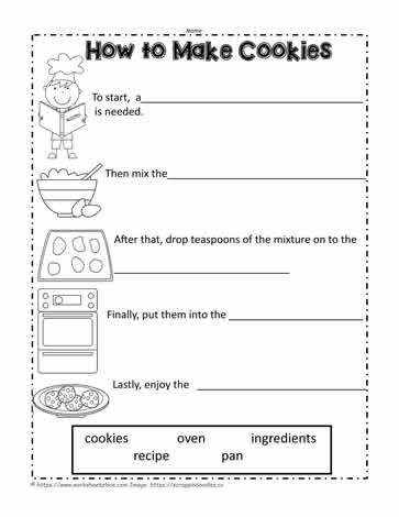 Sequencing Worksheets 2nd Grade How To Make Cookies Worksheets In 2021 Sequencing Worksheets Writing Worksheets How To Make Cookies 2nd grade writing worksheet