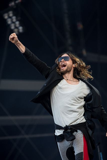 30 Seconds To Mars--Jared Leto. That incredible hair.