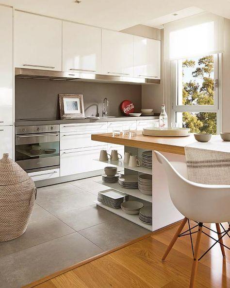 Micasa Un Atico Con Terraza De 80 M 8 Kitchen Interior Kitchen Remodel Kitchen Design