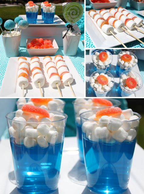 like the idea of the jelly cups - could do with a choc plane on top for flying-themed party Nerf Birthday Party, Planes Birthday, Planes Party, Airplane Party, Nerf Party Food, Cake Birthday, Beach Ball Birthday, Mermaid Birthday, Party Games