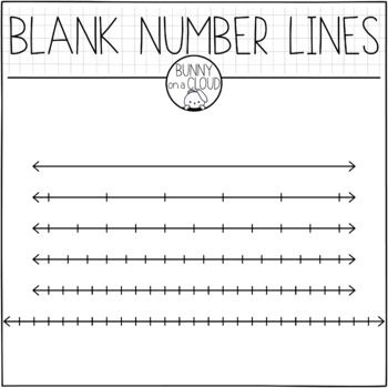 Hello These Are My Blank Number Lines And It S A Freebie Check Out My Math Manipulatives Mega Bundle For My Othe Number Line Math Clipart Clip Art Freebies