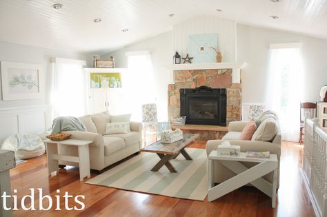 Living Room Upgrade: From Cabin To Cottage Fresh Decor   Hometalk