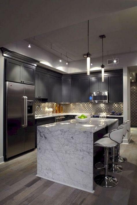 52 Amazing Luxury Black Kitchen Design Ideas  #blackkitchens #kitchendesign #kitchendesignideas