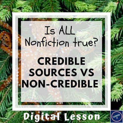 Credible Sources vs Non-Credible: 4-Day Digital Bundle