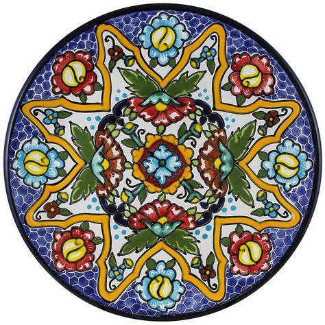 Tomas Huerta TalaveraPlate - Pattern 61 ♥️♣️♣️Talavera Mexican Pottery : More At FOSTERGINGER @ Pinterest ♣️