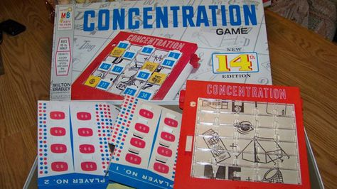 concentration board game 1970. Remember the black and white paper roll with the puzzle clues on them?