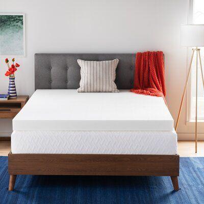 Wayfair Basics Wayfair Basics 4 Memory Foam Mattress Topper Bed