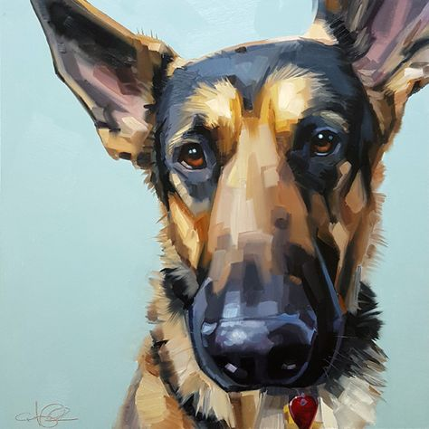 dog paintings Cristall Harper, George, oil, 12 x - Southwest Art Magazine Dog Portraits, Portrait Art, Portrait Paintings, Animal Paintings, Animal Drawings, Wal Art, Southwest Art, Illustration Art, Illustrations