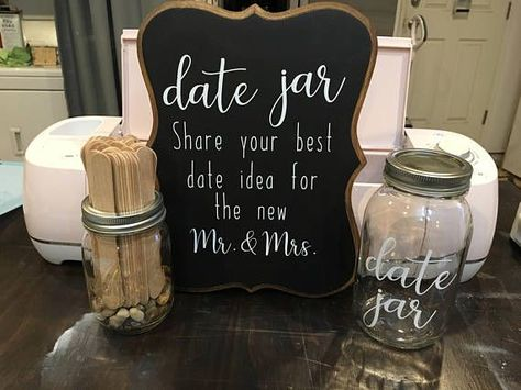 Wedding Date Jar, Wedding or Bridal Shower