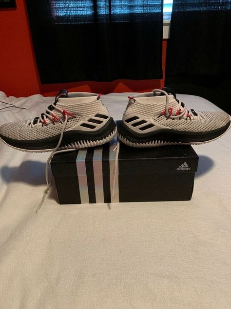 Damian Lillard 4 White Pre Owned Fashion Clothing Shoes Accessories Mensshoes Athle Sneakers Men Fashion Mens Shoes Casual Sneakers Adidas Superstar Mens