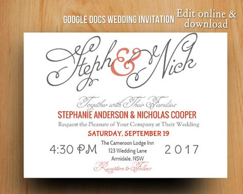 Printable DIY gold polka dots modern wedding by BimbimDesigns - resume google docs