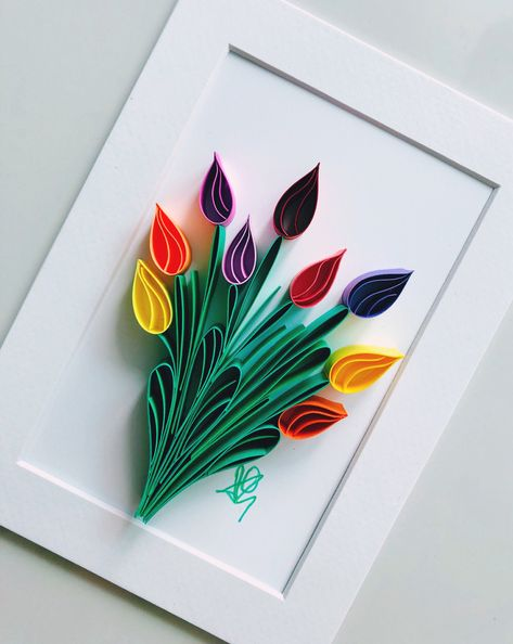 Quilling Birthday Cards, Paper Quilling Cards, Paper Quilling Flowers, Quilled Paper Art, Paper Quilling Designs, Flower Paper, Quilling Flowers Tutorial, Quilling Butterfly, Quilled Roses