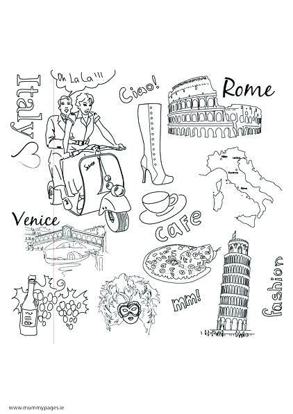 Free Italian Coloring Pages