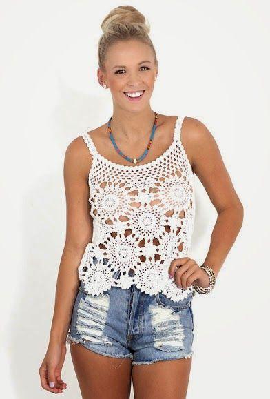 Moda Y Ropa De Mujer Pareos Y Ropa De Playa Para Mujer Tejidos A Crochet La Moda De Ganchillo Ganchillo Ropa Camisa De Ganchillo