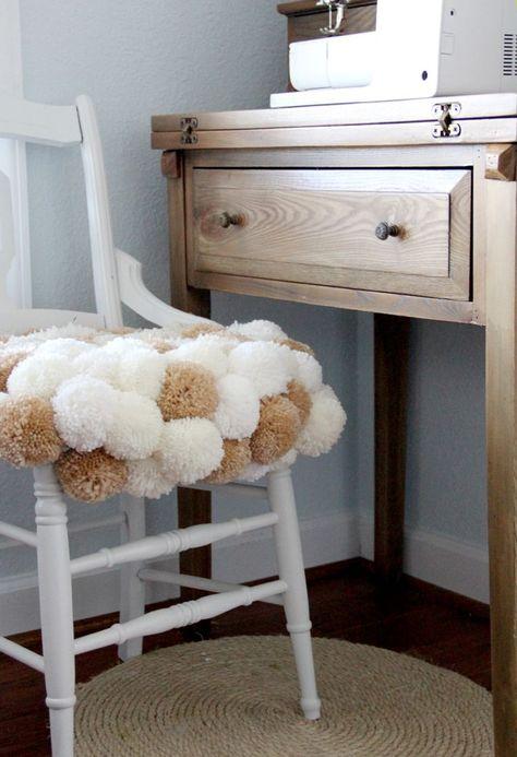 Pom Pom Chair DIY | Diy chair, Kids room furniture, Pom pom