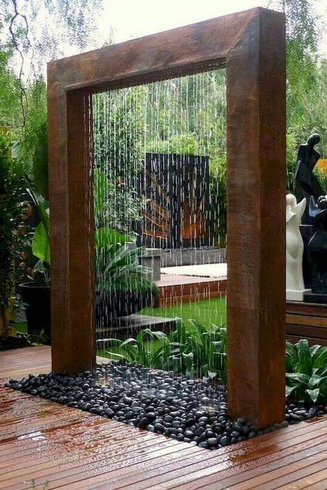 60 Exciting Backyard Waterfall Garden Landscaping Ideas