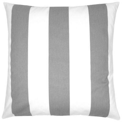 Kissenbezug Kissen Kissenhulle Vertical Grau Weiss Streifen