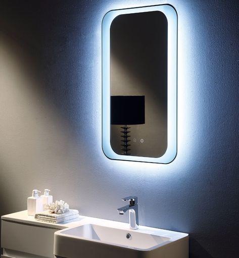 Round Edge Mirror With Lights Led Mirror