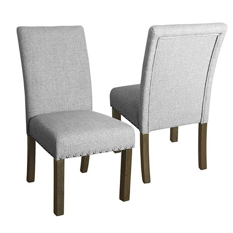 Gratis 2 Fauteuils.Homepop Michele Dining Chair With Nailhead Trim Set Of 2 Marbled