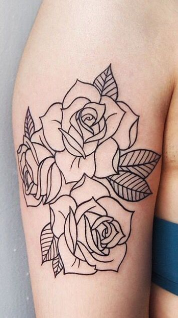 Latest Pic Rose Drawing Color Suggestions During This Session We Ll Take A Look At Exactly How To Get A New Went U Rose Outline Tattoo Tattoos Tattoo Outline