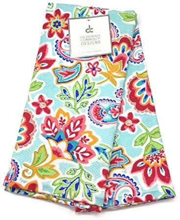 Deborah Connolly Colorful Jacobean Floral Kitchen Towel Set