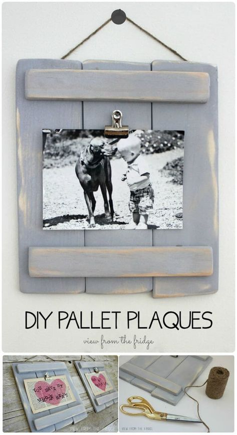 DIY Pallet Plaques shared by Ginnie on We Heart It