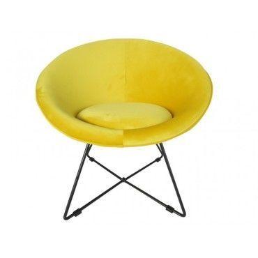 en 5400614435321 73x62xh71cm jaune Haye fauteuil velours SqVpLMGUz