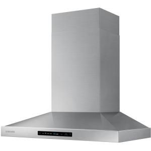 Samsung 36 In Wall Mount Range Hood Touch Controls Bluetooth Connected Led Lighting In Stainless Steel Nk36k7000ws The Home Depot In 2020 Wall Mount Range Hood Range Hood Wall Mount