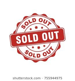 Red Sold Out Circular Sign Label Stamp Sold Out Sign Business Signs Business Marketing Design
