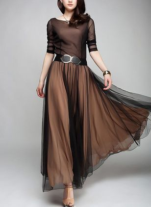 Shop Floryday for affordable color block long sleeve maxi a-line dress. Floryday offers latest color block long sleeve maxi a-line dress collections to fit every occasion.
