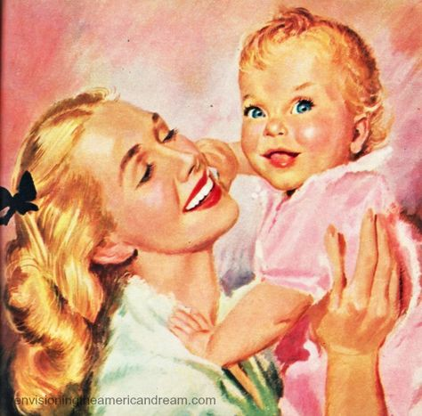 1950s mother and child -