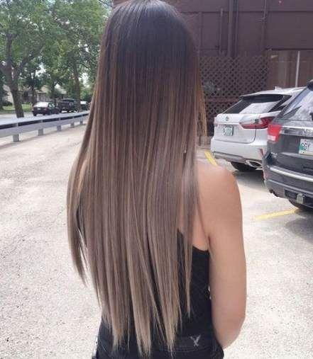 47 Ideas Hair Straight Long Summer Haircuts Straight Hair Brunette Hair Color Balayage Hair