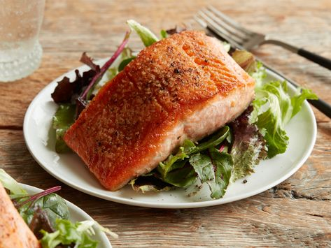 Recipe of the Day: Pan-Fried Salmon | Cook up crispy, delicious salmon in under 30 minutes with simple ingredients we bet you have on hand. This mouthwatering main complements everything from mesclun greens to mashed potatoes.