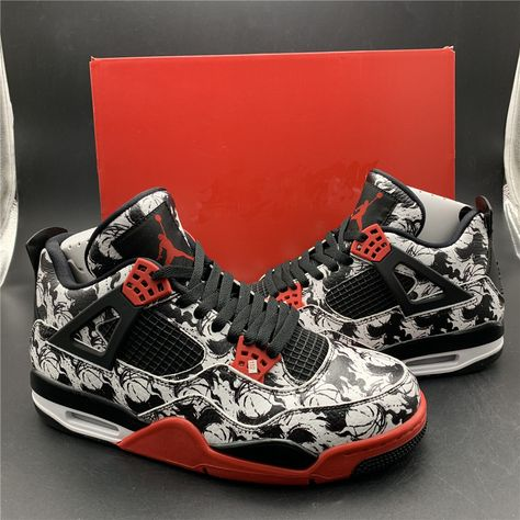 low priced d4e28 1b0a2 Jordan Retro 4 Tattoo (2018)  BQ0897-006