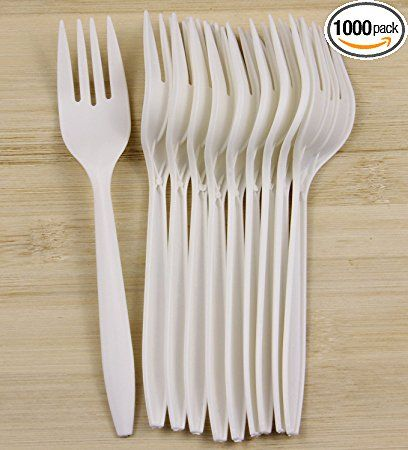 Eco Friendly Compostable Forks made from cornstarch 100 COUNT CPLA FORKS Compostable Heavyweight Disposable Forks
