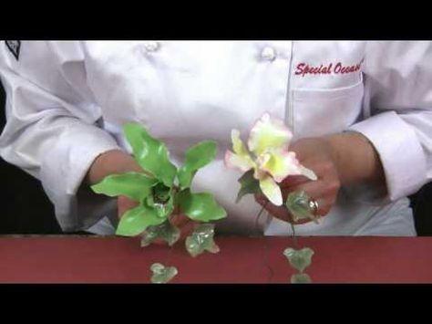 Orchids advanced gum paste techniques - YouTube