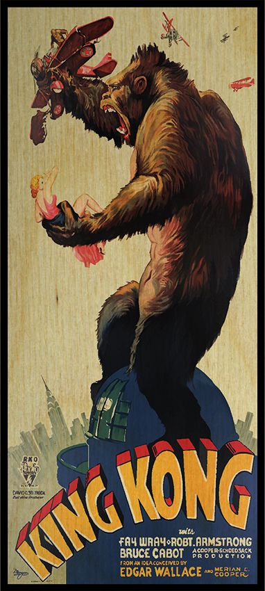 King Kong Poster Wall Decor Extra Large Wall Art Film Poster Etsy In 2020 King Kong Movie Best Movie Posters Movie Posters Vintage