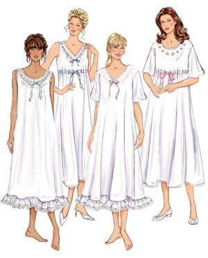 выкройки ночных сорочек  5c1facccae03a