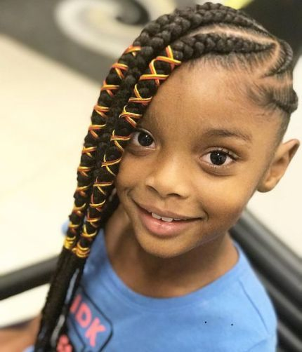 2018 Kids Braid Hairstyles Cute Braids Hairstyles For Kids Hair Styles Kids Hairstyles African Braids Hairstyles