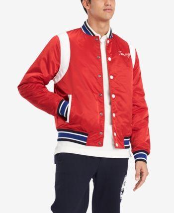 Tommy Hilfiger Men S Varsity Bomber Jacket Created For Macy S Reviews Coats Jackets Men Macy S Varsity Bomber Jacket Mens Outdoor Jackets Tommy Hilfiger Man
