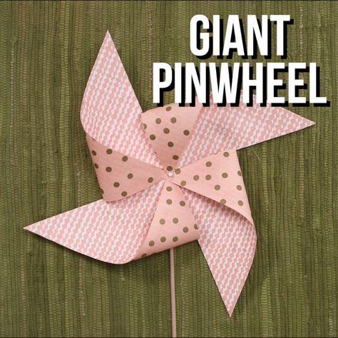 How to Make Paper Napkin Pinwheels