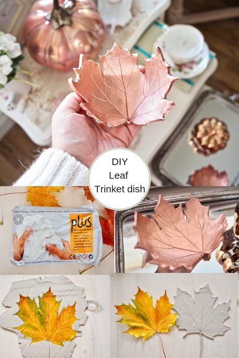 DIY leaf bowl, Autumn craft idea | The dainty dress diaries