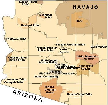 Indian Reservations In Arizona Map MAP OF INDIAN TRIBES IN ARIZONA | Indian tribes, San carlos