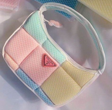 Baby Blue Aesthetic, Aesthetic Bags, Luxury Purses, Luxury Bags, Sacs Design, Accesorios Casual, Custom Bags, Vintage Bags, Blue Fashion