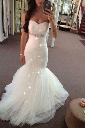Sweetheart Mermaid Wedding Dresses Bridal Gown Waist With Beaded Wedding Dresses Mermaid Sweetheart Wedding Dress Belt Mermaid Wedding Dress